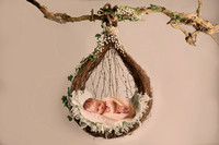 HANGING POD BASKET GREEN IVY - LILLEY BELLE COUTURE_1