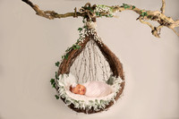Hanging Pod Basket Green Ivy - Lilley Belle Couture